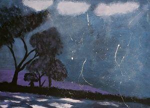 Tree's nightime silhouette