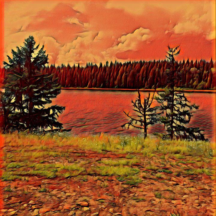 Lake and Trees 2 - Nicholson Art Gallery