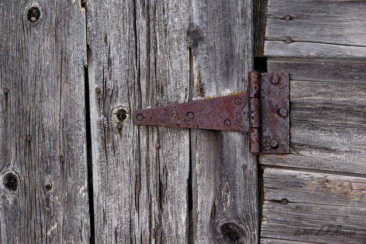 Weathered Barn Hinge Detail - Images Undefined