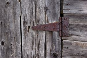 Weathered Barn Hinge Detail
