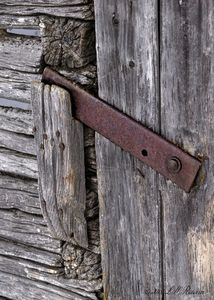 Barn Door Latch Detail