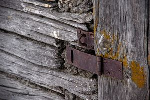 Weathered Padlock Hasp Detail