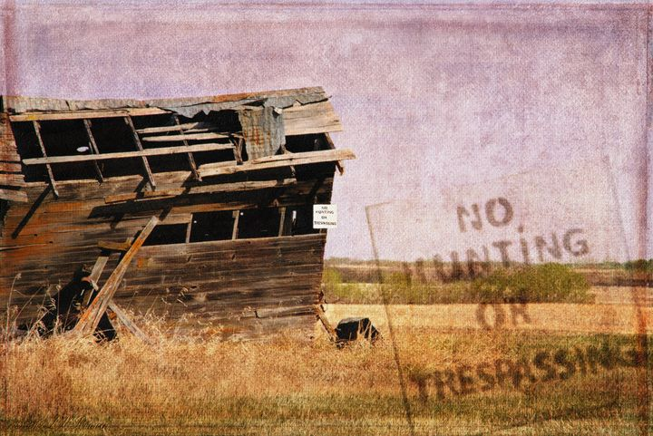 No Trespassing or Hunting Stamped - Images Undefined