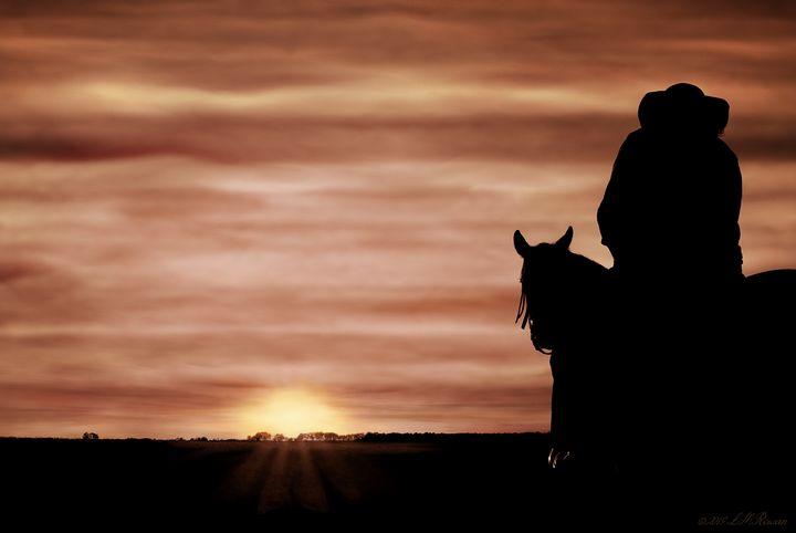 Sunset on Horseback - Images Undefined