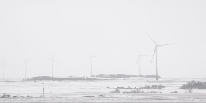 Wind Turbines on the Prairie - Images Undefined