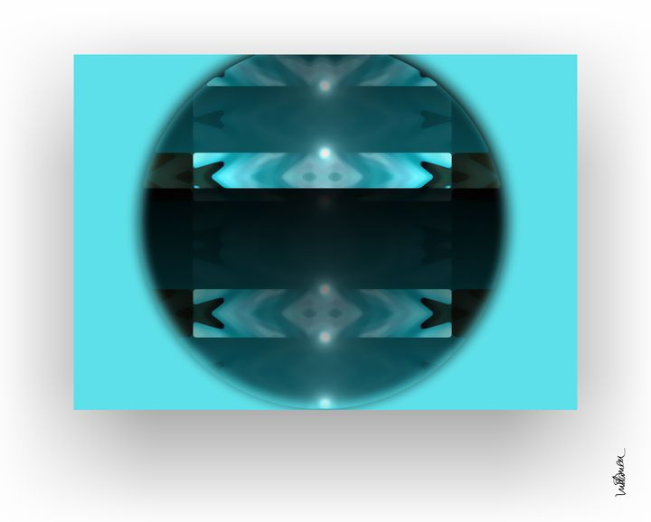 Lumiere Blue Circle - ARTDIGITAL
