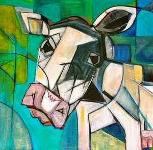 Abstract Dairy Cow