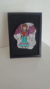 Handpainted fore kids Angels love. - Gallery Valný