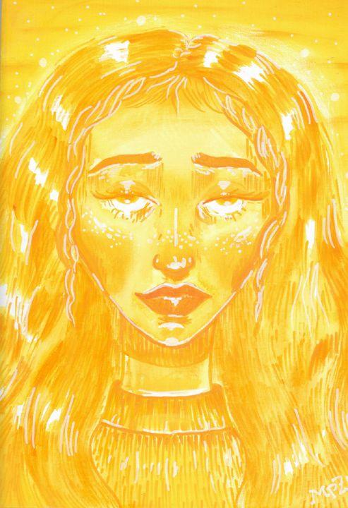 Orange Girl - Acrylic Artisan