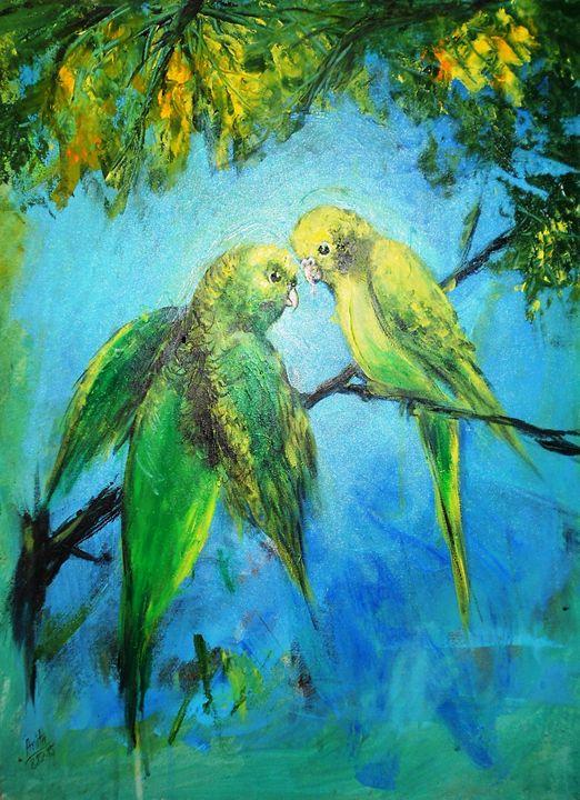 Budgies - A.Sanyal's Art