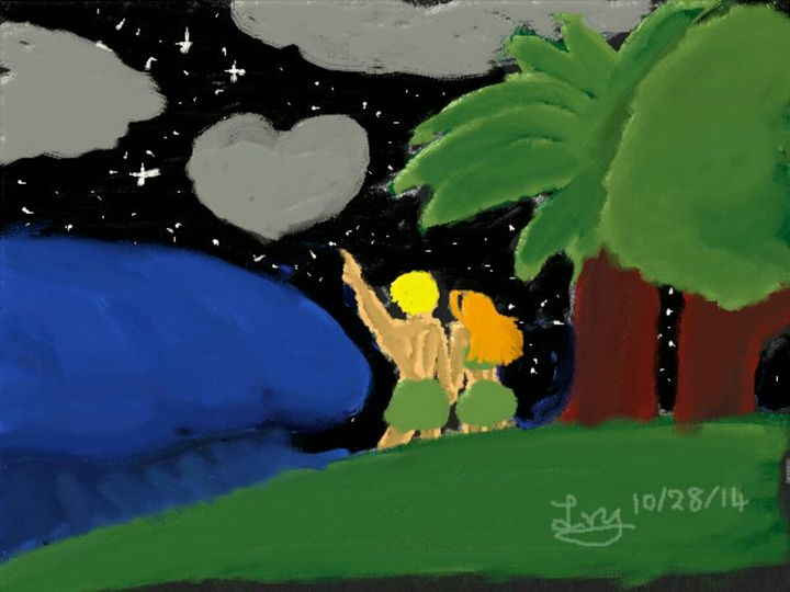 Tropical date night painting - UADEPSStore
