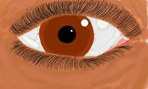 Staring eye painting