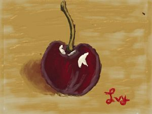 Cherry fruit painting