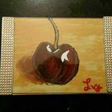 Cherry fruit framed painting