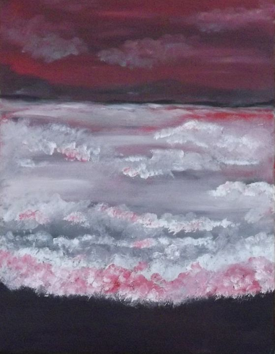 Waves crashing - Jana`s Art