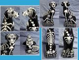 Day of the Dead dog statue