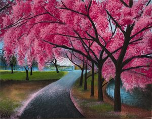 D.C Cherry blossom - Ella Okev Visual art