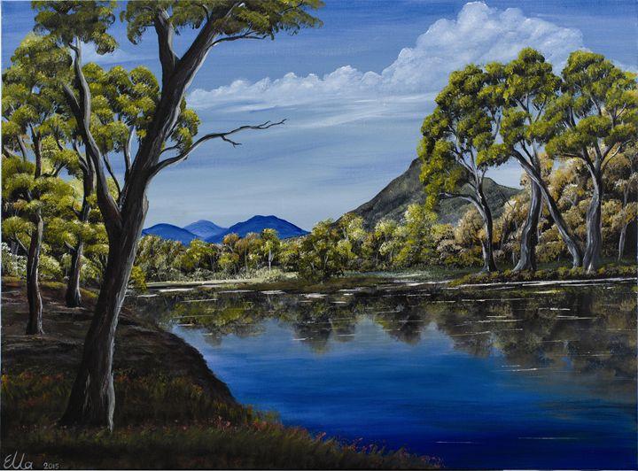 mountains reflection - Ella Okev Visual art