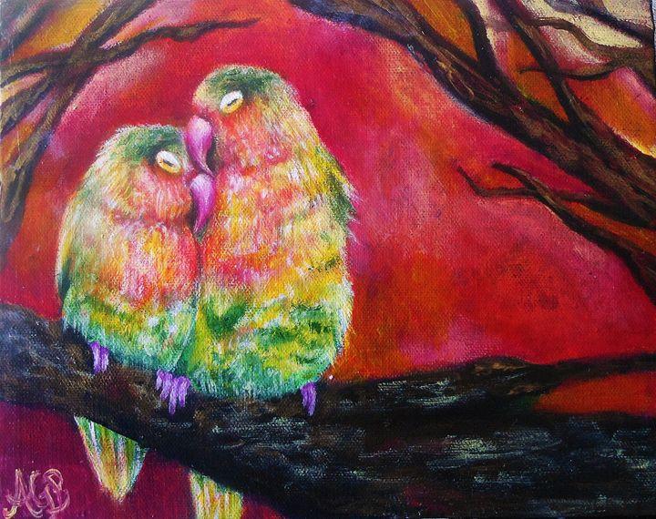 Lovebirds - Angela Bomarito
