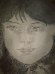 A  drawing  of  a  little  girl