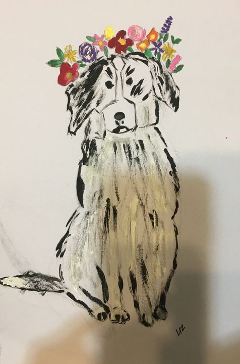 Flowered crowned Doggie - DAYly OKazions