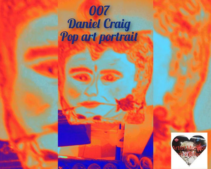Pop art portrait photo creation - Renis Artstylegallery