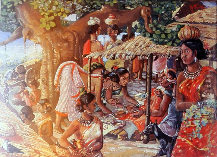 Tribe in afternoon - M.C Thakur