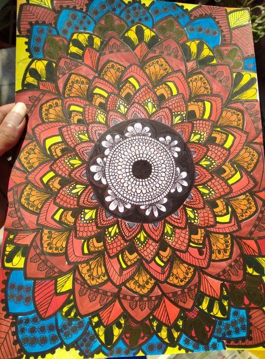 BLOOM MANDLA - BLIND FOLD ART