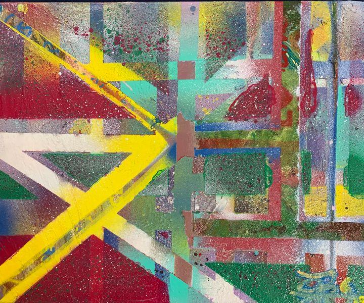 Tape and Paint - J. Reagan Art