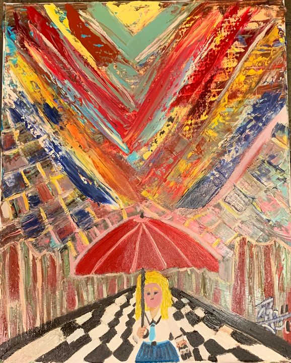 Girl In The Rain - J. Reagan Art