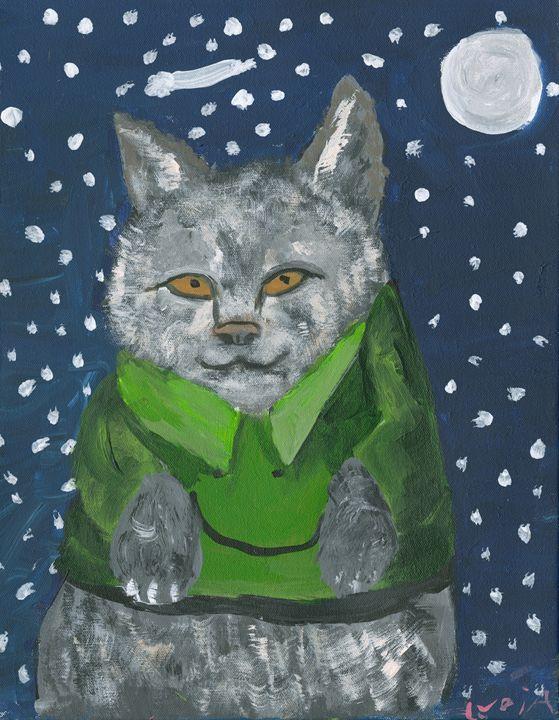 School Cat - Lydia's Art Gallery