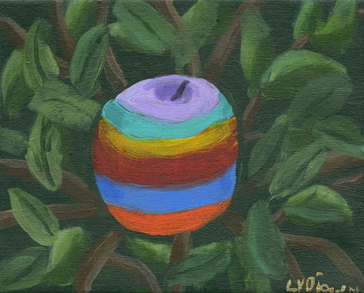 Apple in the Nest - Lydia's Art Gallery