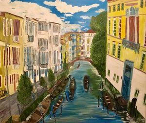 Astonishing oil painting of Venice,
