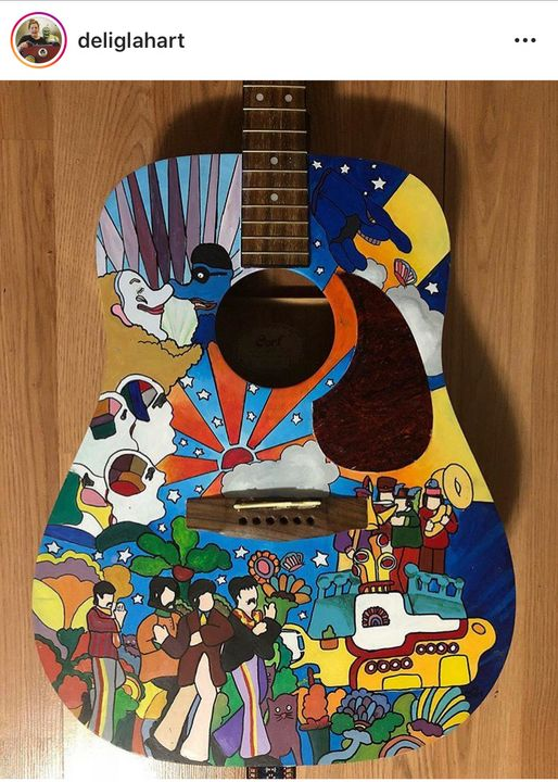 Beatles Guitar - DelilahMcCarthyArt