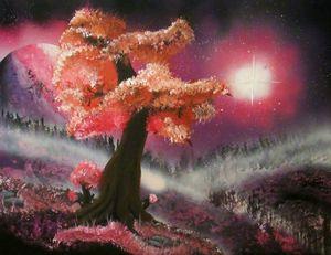 Galaxy pink tree