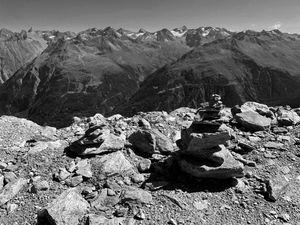 rocks on top of the austrian alps