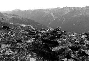 alpine rocky mountain view