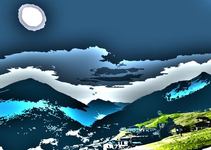 Blue Austrian Sunny Alps - bumsable