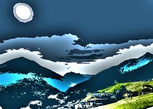 Blue Austrian Sunny Alps