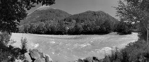 alpine river in the austrian alps