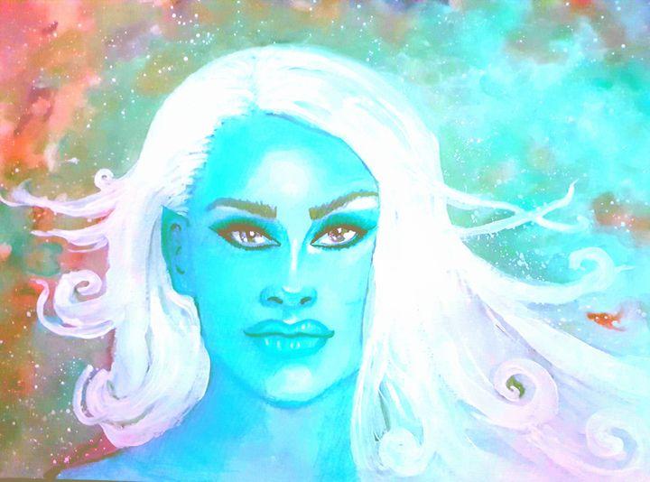 Brave blue - Art by Lisa-Marie