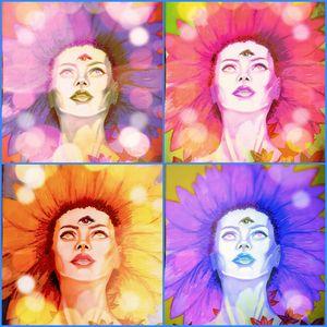 Ascend. Pop art collage