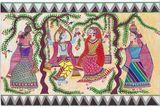 Ram Sita Mithila Painting