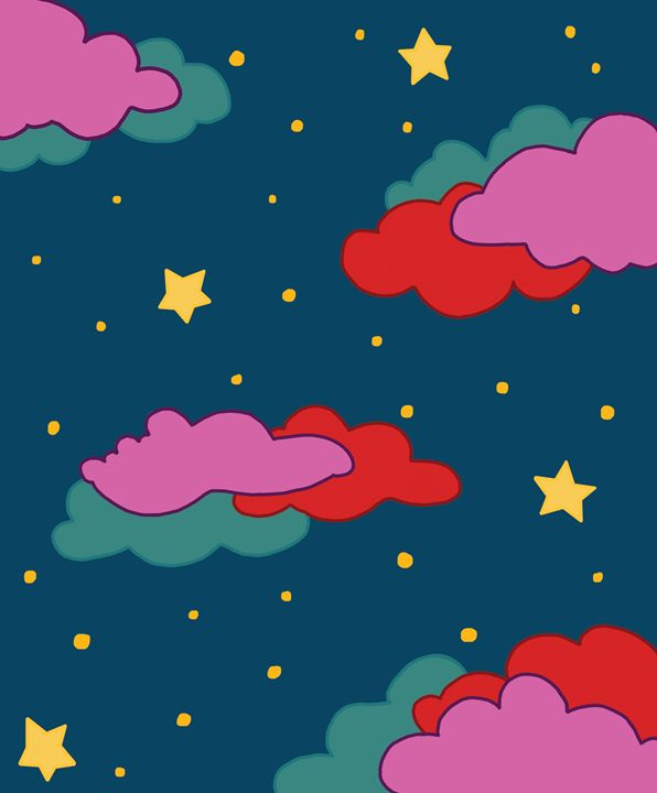 Colorful Night Clouds - Catherine
