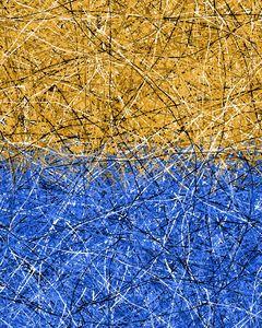 abstract splatter flow art