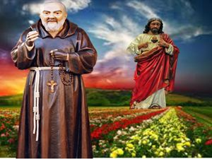 Padre Pio and Jesus