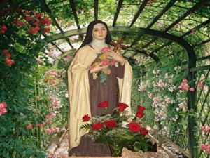 In the Garden Saint Theresa