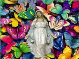 Virgin Mary and Butterflies