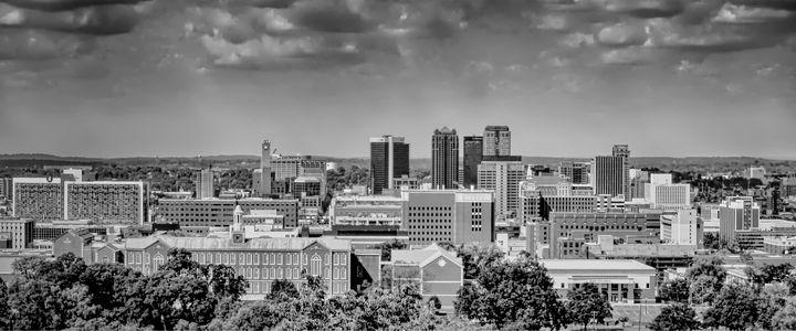 Magic City Skyline B&W - Ken Johnson Imagery