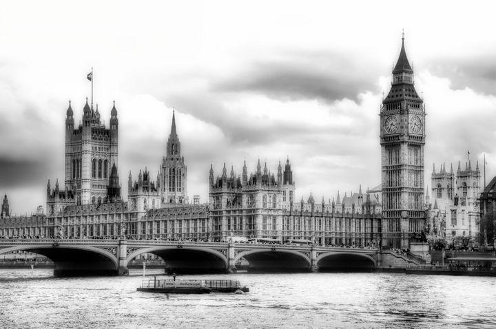 Big Clock in London Soft - Ken Johnson Imagery